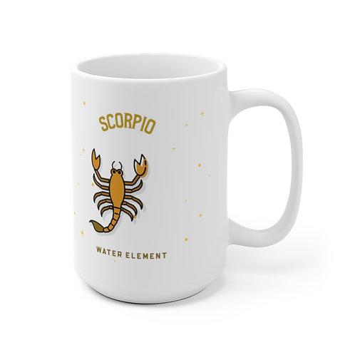 Scorpio Mug - (back side) Zodiac Symbol