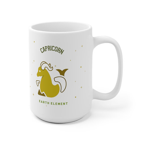 Capricorn Mug - (back side) Zodiac Symbol