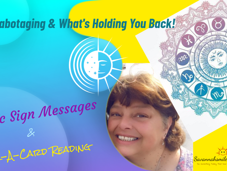 Self-Sabotaging & What's Holding You Back!