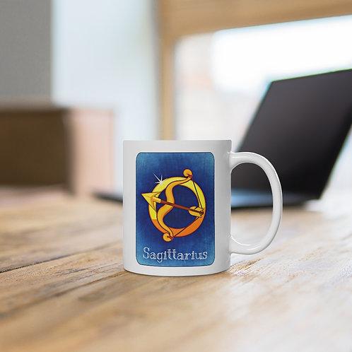 Sagittarius - White Ceramic Mug