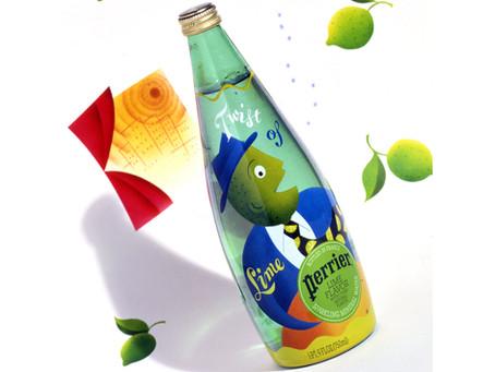 村上隆氏よりずっと前に、ペリエの限定ボトルをデザインしました。
