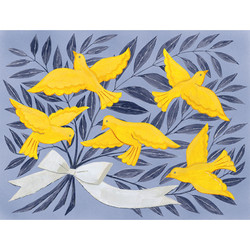 Yellow Birds with Branches
