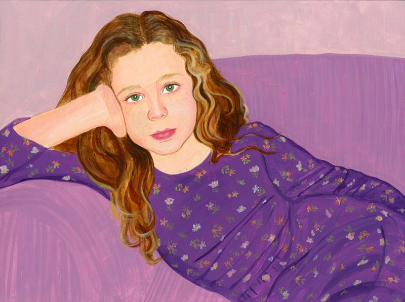 Tess in Purple Dress