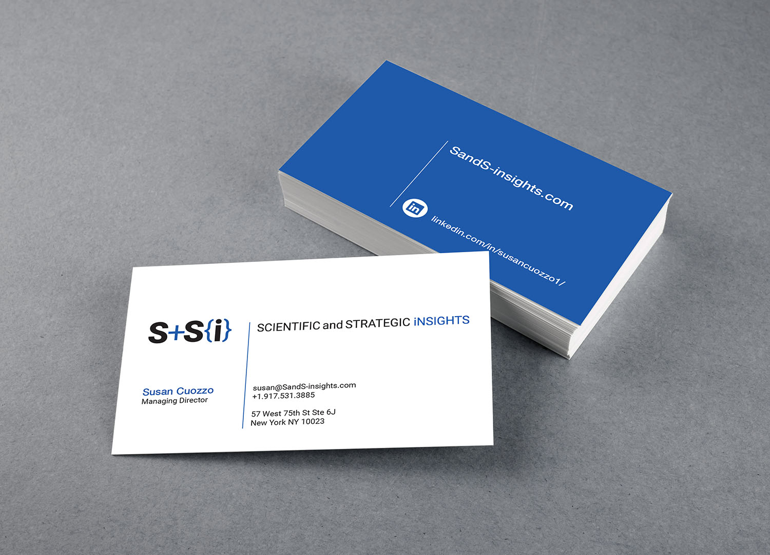 S+Si business cards