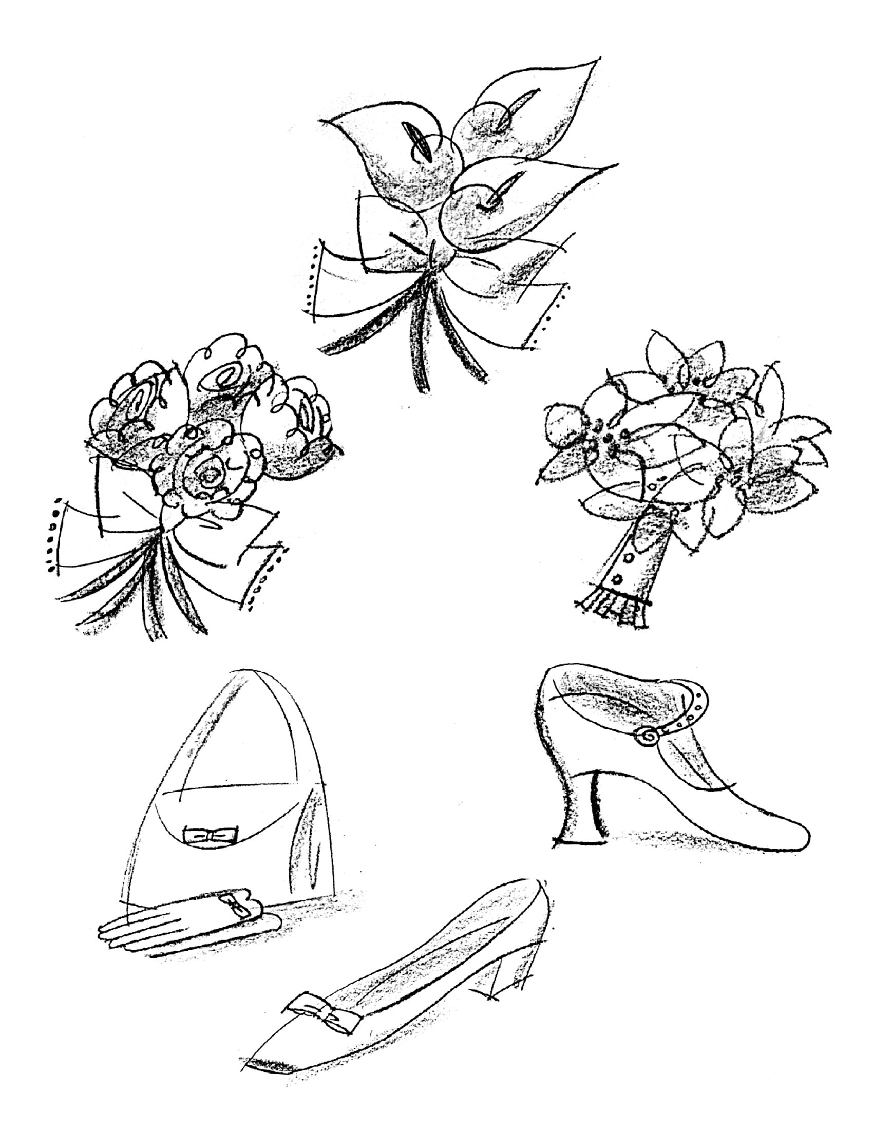 Bridal Spot Illustrations