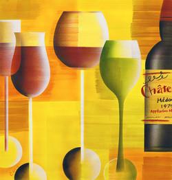 ステムの長いワイングラス