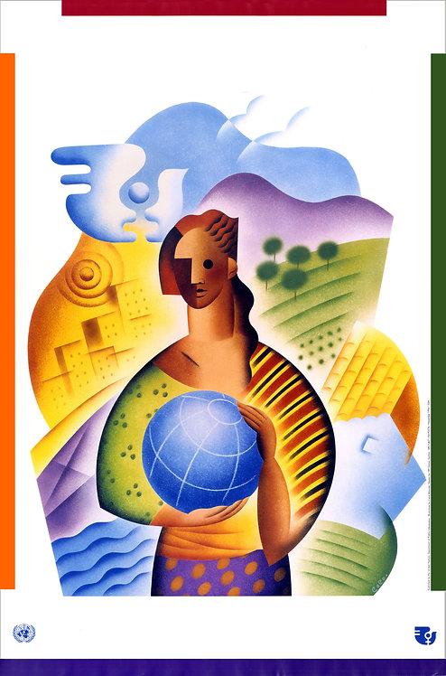 第4回世界女性会議のオリジナル・ポスター(画像のみ)