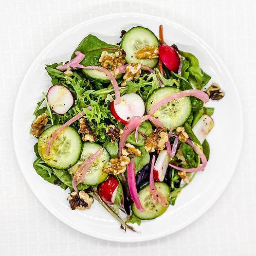 Spring Green Salad with Walnuts and Lemon Herb Vinaigrette