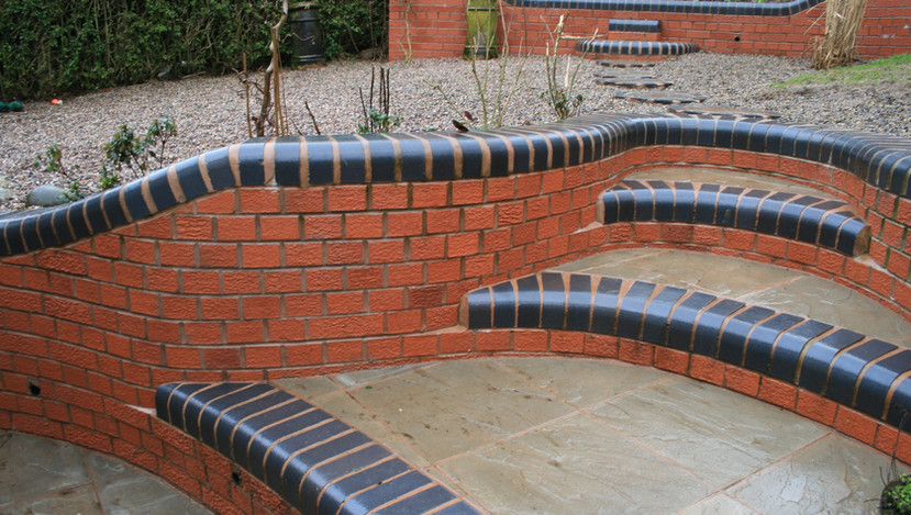 Steps curved to match walls
