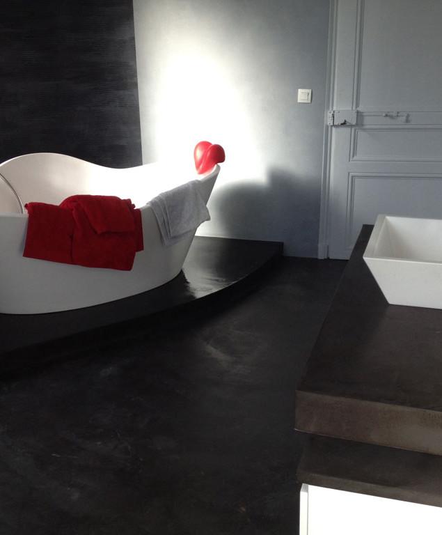 Salle de bain béton ciré - Vue d'ensemble