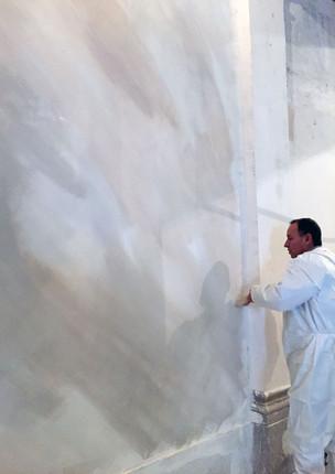 Préparation faux-marbre - Banque de France