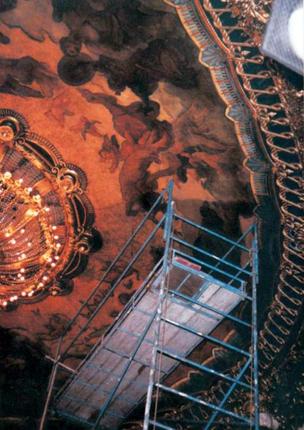 Restauration du plafond paysagé - Théâtre des Célestins, Lyon