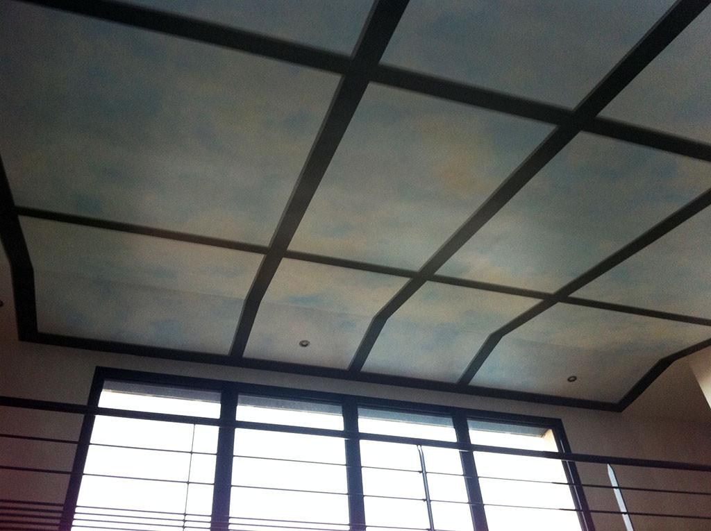 Trompe-l'oeil plafond paysagé 002