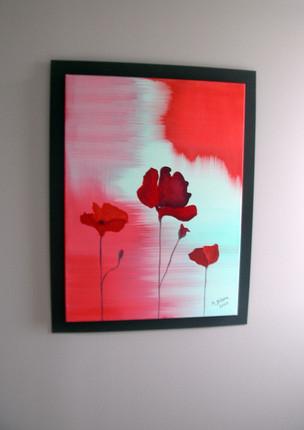 Figuratif - Fleurs rouges
