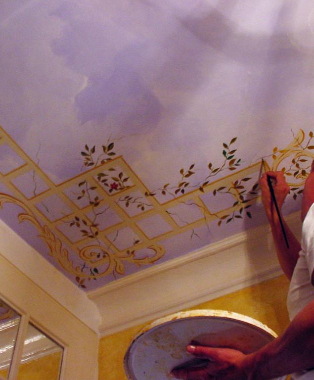 Plafond paysagé typé XIXème 002