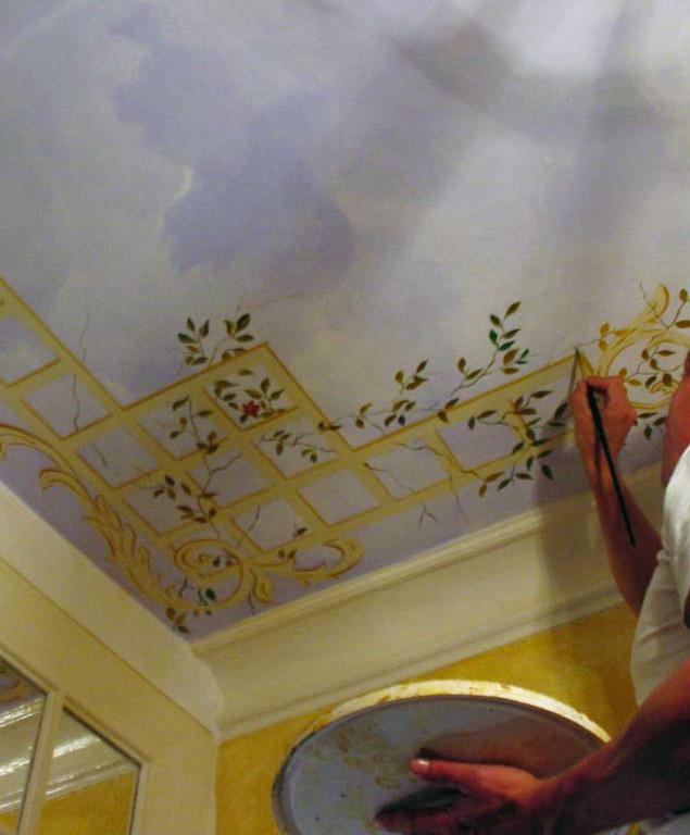 Restauration d'un plafond paysagé