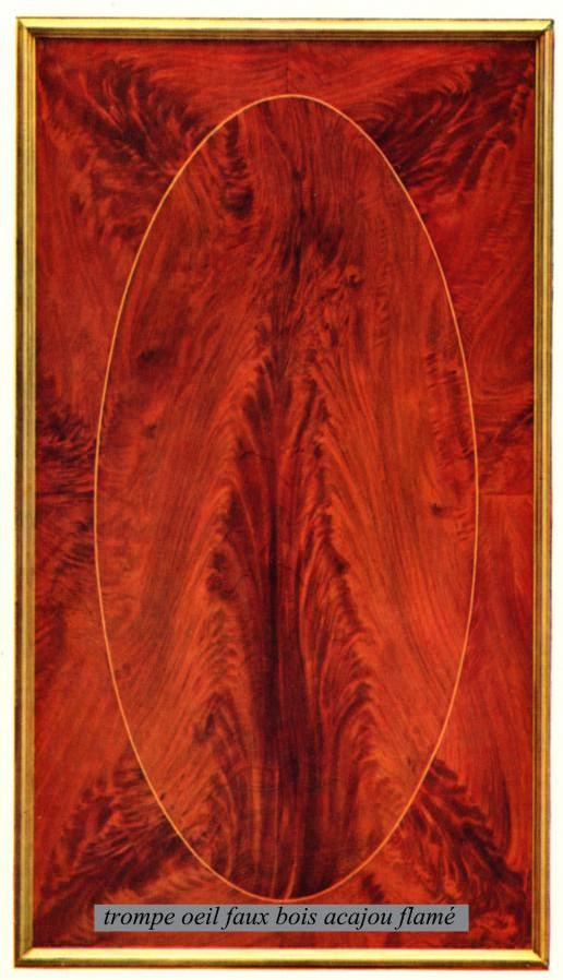 Trompe-l'oeil faux bois - Palissandre et Tuya
