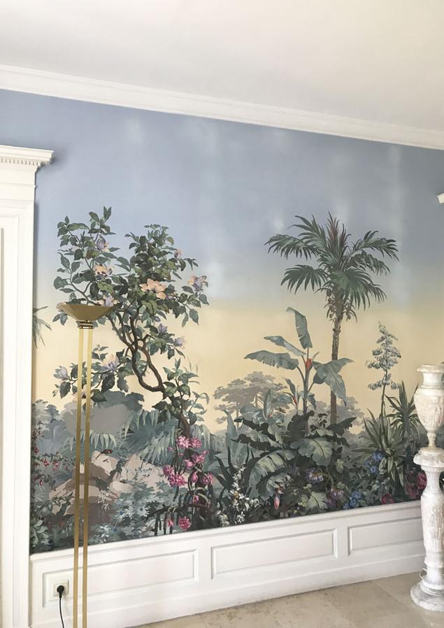 Fresque murale restaurée