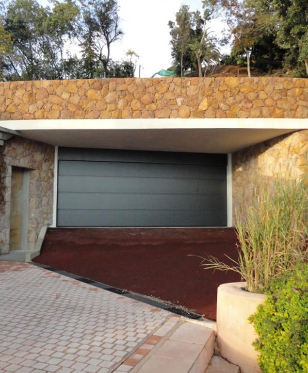 Garage paysgé - Vue travaux mi-parcours