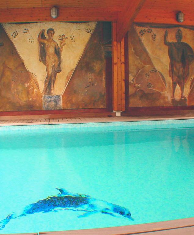 Fresque décor pompéïen - Vue livraison du chantier