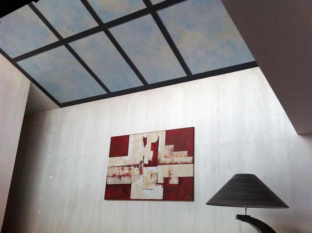 TroTrompe-l'oeil plafond paysagé 003