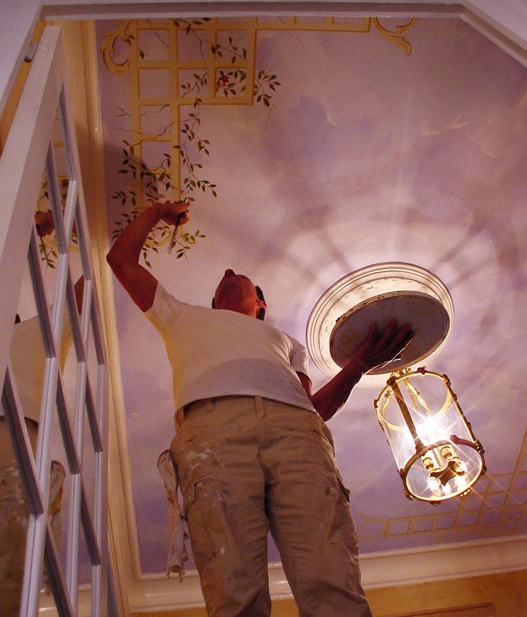 Plafond paysagé typé XIXème 003