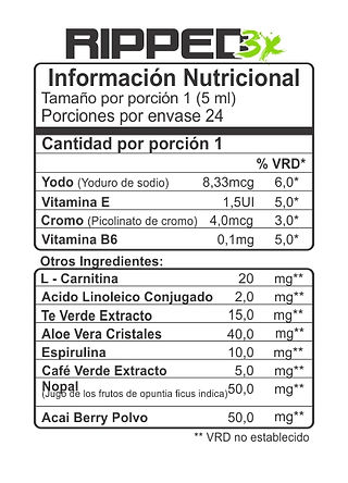 tabla de nutricion ripped3x