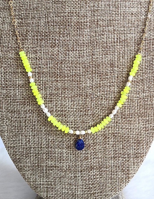 en sterling river fluid lazuli geometry handmade necklaces of lapis silver necklace