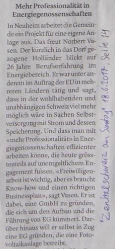 Togethenergy in der Zeitung