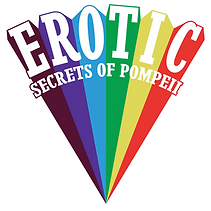 Erotic Secrets of Pompeii logo Erotic Rising based on Kenneth Anger's classic design from Lucifer Rising. Arthouse rainbow logo.