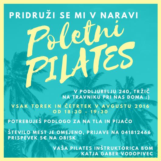 Poletni Pilates v naravi