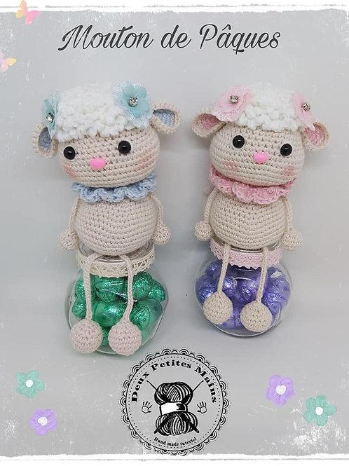 Tutoriel, crochet,pattern, Amigurumi, Mouton de Pâques (Français)