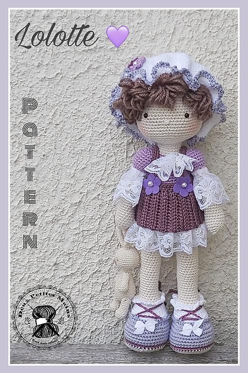 Tutoriel, crochet,pattern, Amigurumi, Poupée Lolotte