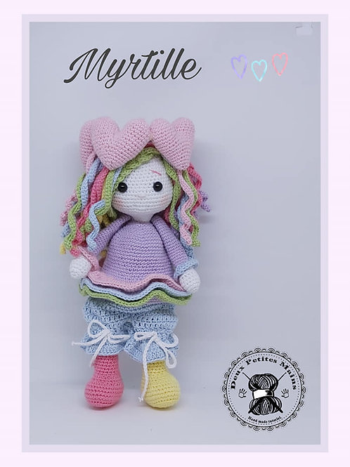 Tutoriel, crochet,pattern, Amigurumi, Poupée Myrtille