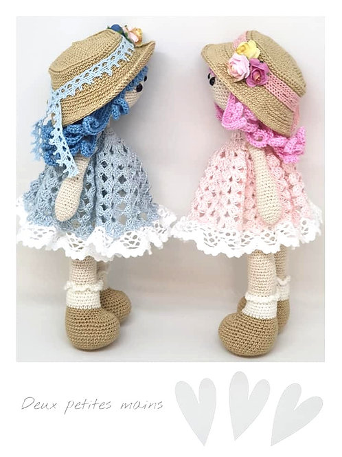 Tutoriel, crochet,pattern, Amigurumi, Poupée Patou (Français)