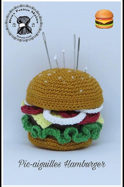 Tutoriel, crochet,pattern, Amigurumi, PIC-AIGUILLES HAMBURGER