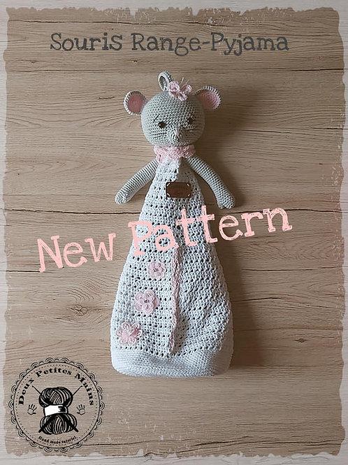 Crochet, Pattern, Patron, Tutoriel, Amigurumi, Souris Range-Pyjama