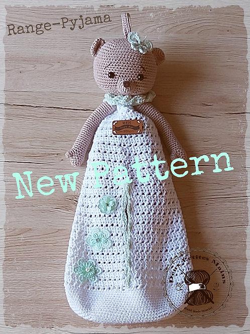 Crochet, Pattern, Patron, Tutoriel, Amigurumi, Ourson Range-Pyjama