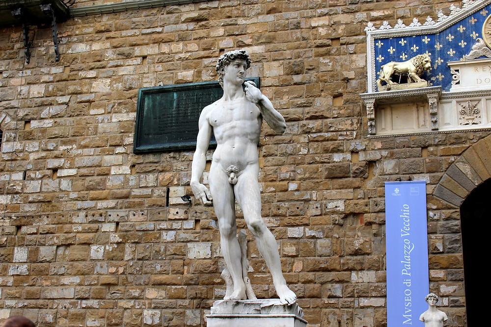 Réplica de Davi, de Michelangelo, Florença