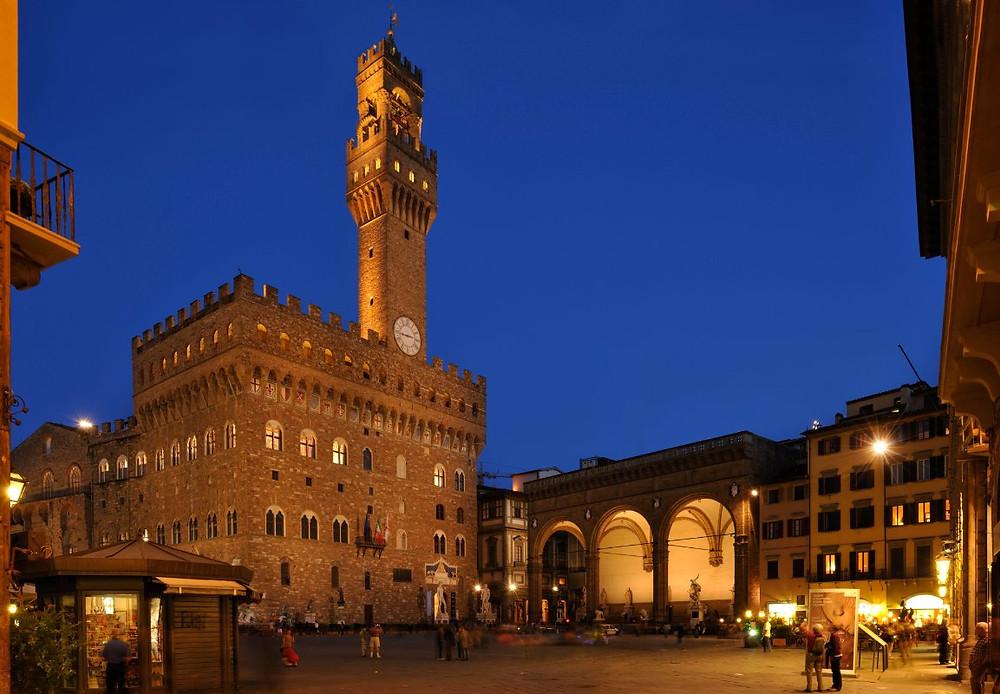 Palazzo Vecchio e a Loggia dei Lanzi, Florença