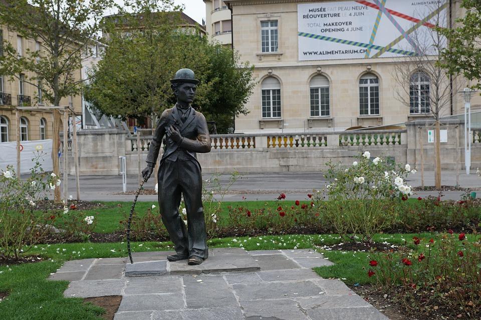 Estátua Charlie Chaplin - Vivey - Suiça