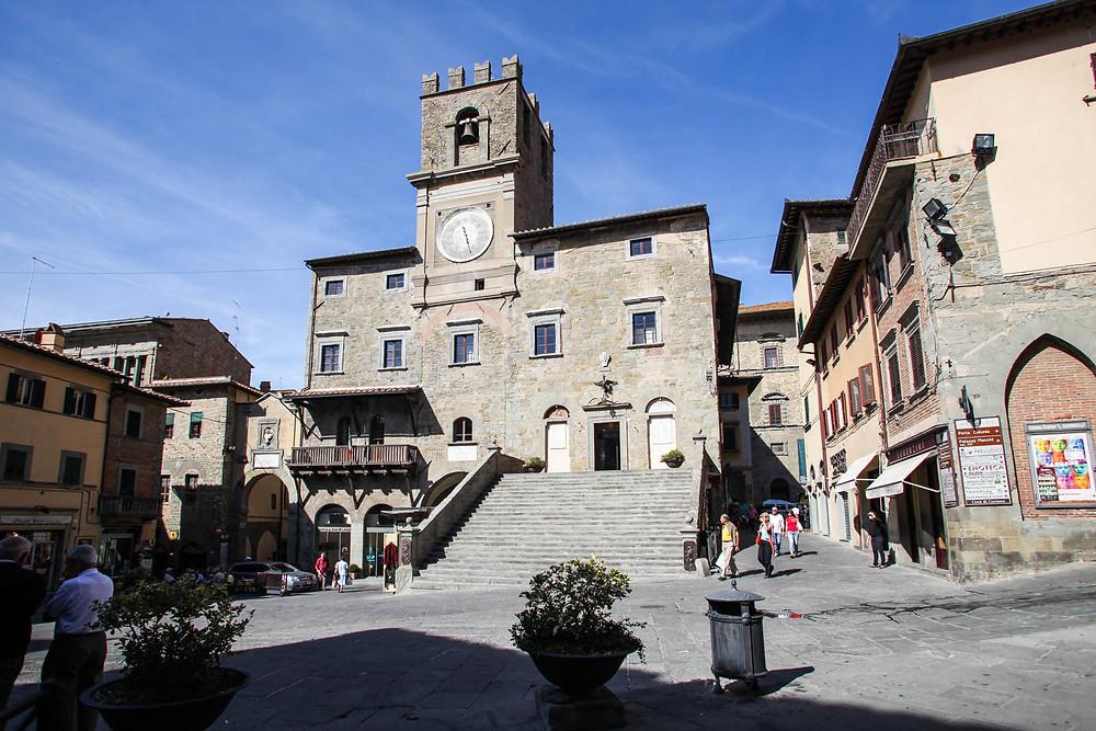 Torre do Relógio, Cortona, Toscana, Itália