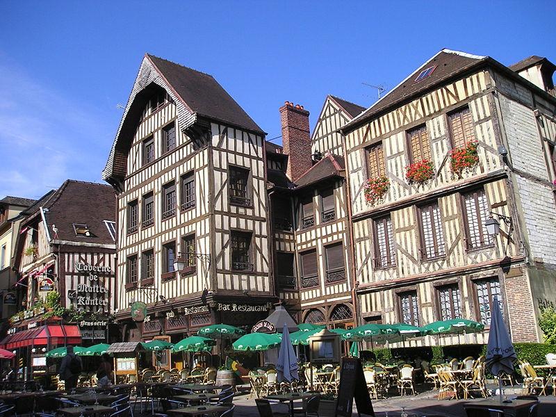 Casas estilo enxaimel, Troyes