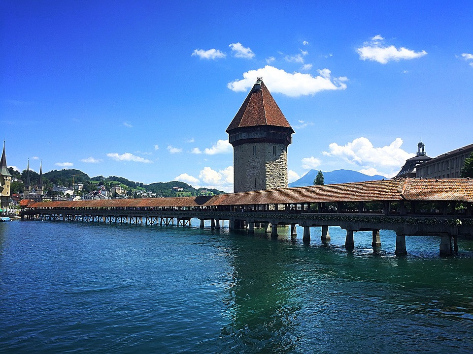 Kapellbrücke, Lucerna, Suiça