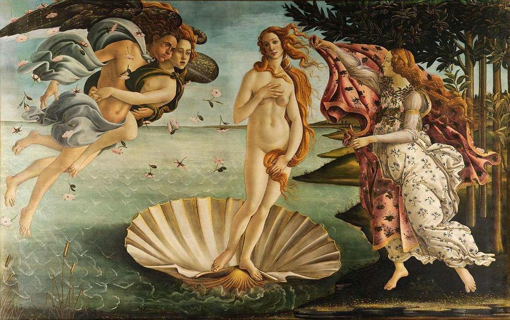 """O Nascimento de Vênus"", Botticelli"