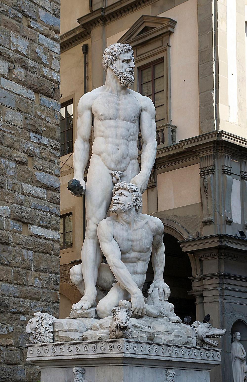 Hércules e Caco, de Baccio Bandinelli, Florença