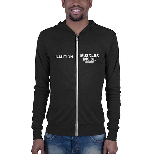 Hoodie - Caution Muscles Inside - Mens