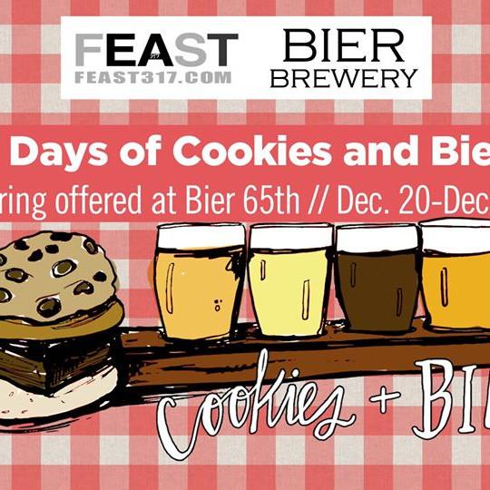 12 Days of Cookies & Bier Flights @ BIER Brewery