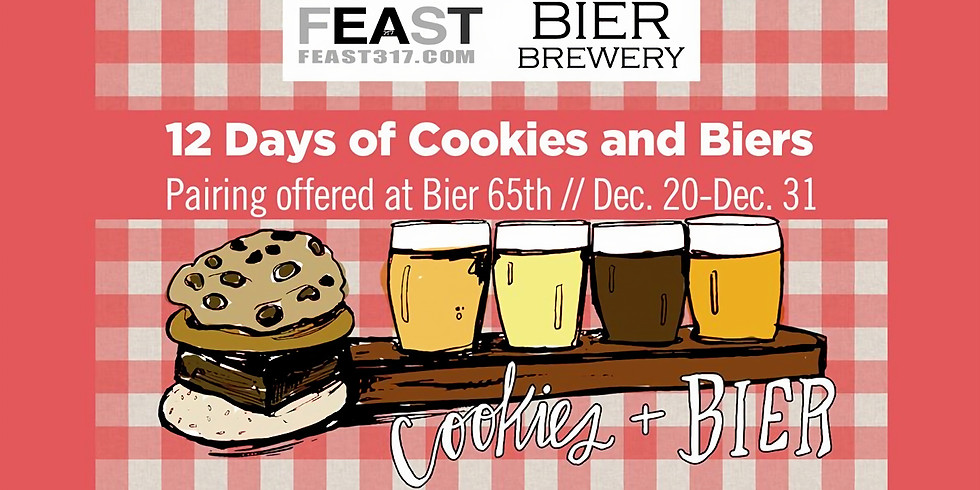 12 Days of Cookies & Bier Flights @ BIER Brewery