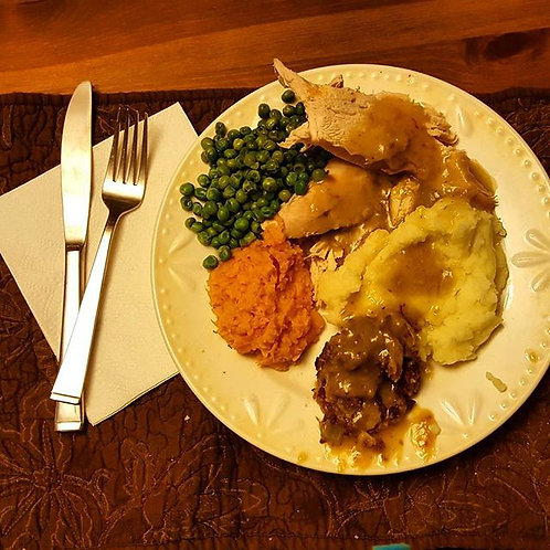 Thanksgiving Dinner  for 4 includes sales tax